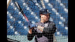 Yankees' Gary Sanchez takes spring training BP
