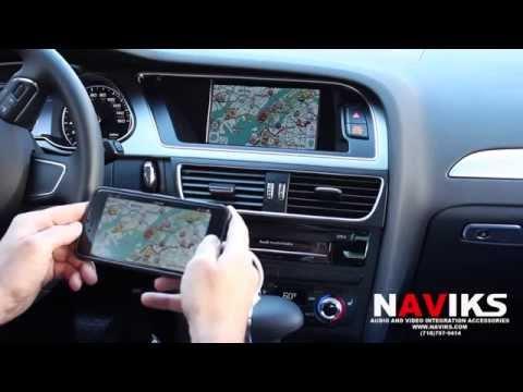 2015 AUDI A4 NAVIKS HDMI Video Interface Add Rearview Camera, Smartphone