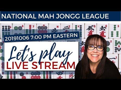 National Mah Jongg League Let's Play Livestream 20191006 REPOST