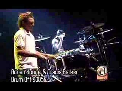 TRAVIS BARKER & ADRIAN YOUNG AT GUITAR CENTER'S DRUM OFF '05