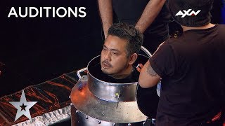Escape Artist's Death Defying Act Will Leave You Breathless! | AXN Asia's Got Talent 2019