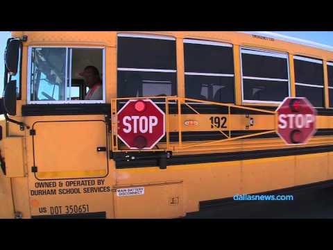 6 foot stop arm on McKinney school buses