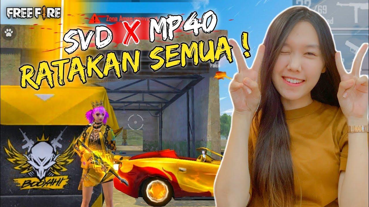 CEWEK MAIN SOLO RANKED MUSUH AUTO RATA - FREE FIRE INDONESIA