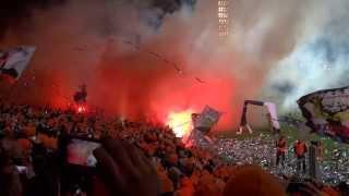 Girondins Bordeaux - Eintracht Frankfurt 28.11.2013 Choreo und Pyro Show 1080p FullHD