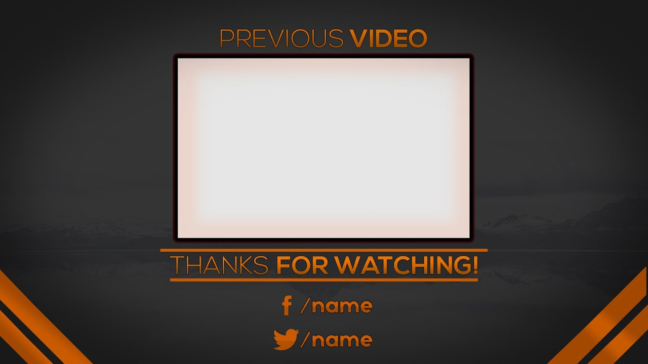 Youtube Outro Template Maker Outro Template Maker Best Of Dorable