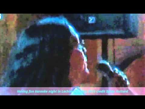 Having fun karaoke night in Lachine, Québec 2013 credit Sylvie Guitard