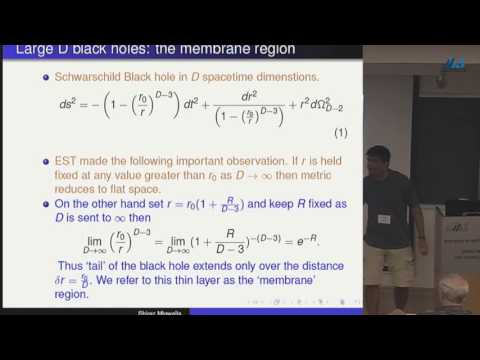 Shiraz Minwalla - A Charged Membrane Paradigm at large D
