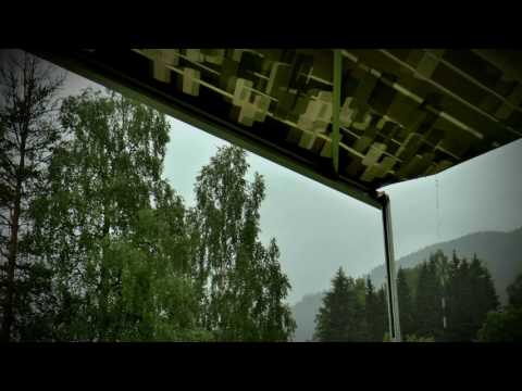 ☔Nature Sounds: Rain Hitting/Falling on Tarp Tent Canopy Roof