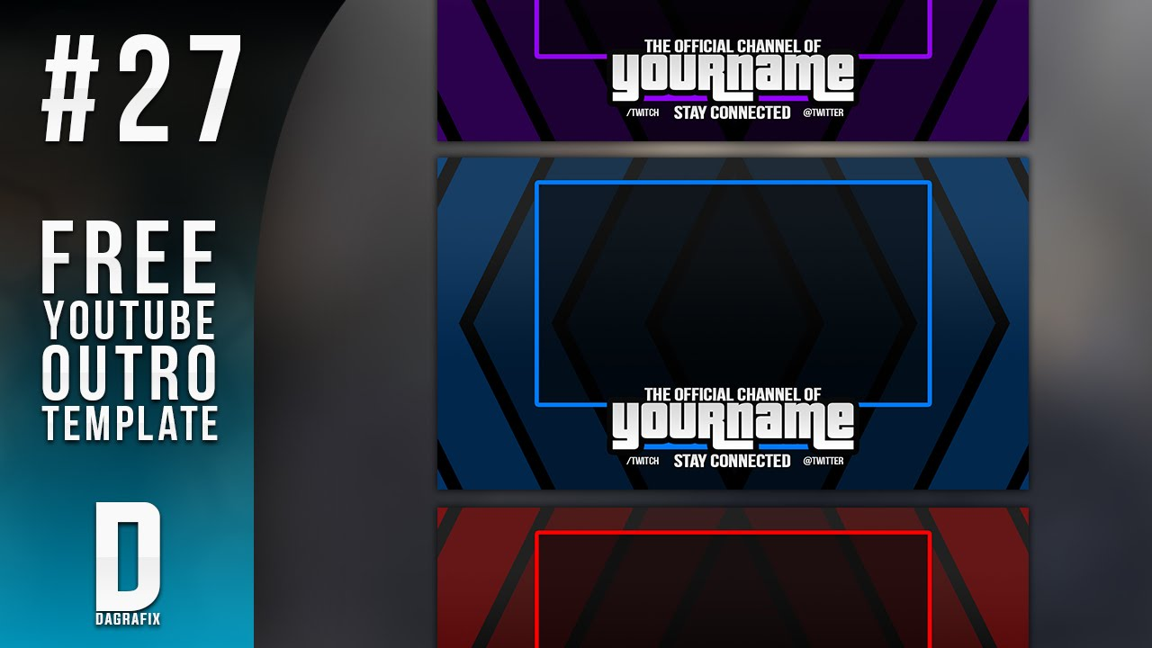 free outro template - simple youtube outro template 27 free photoshop download