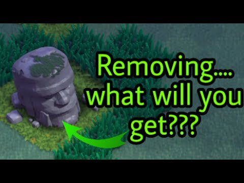 Clash Of Clans What Will You Get Removing Old Barbarian Statue !!!