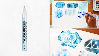 How to use masking fluid - Molotow masking fluid pen review