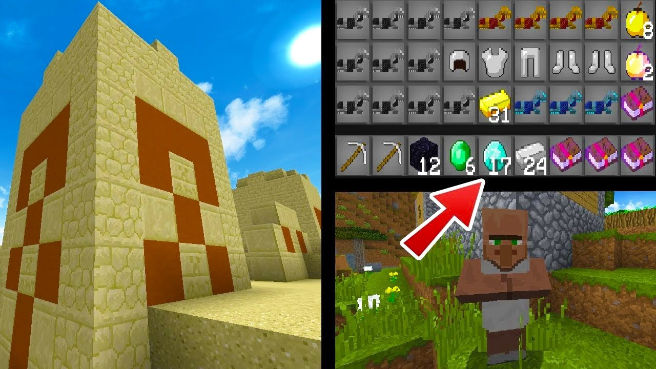 SO MUCH LOOT! - Top Minecraft 1 11 2 Seed - Villages, Temples, Diamonds,  Loot!