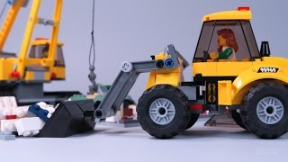 Video & Cartoons for kids. LEGO City animation: Car, tractor, excavator, truck, construction site