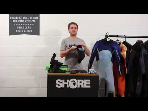 C-Skins Hot Wired Wetsut Boots, Gloves and Hood Review & Walkthrough - Shore.co.uk