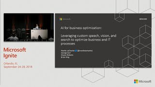 AI for business optimization: Leveraging custom speech vision and search to optimize - BRK3309