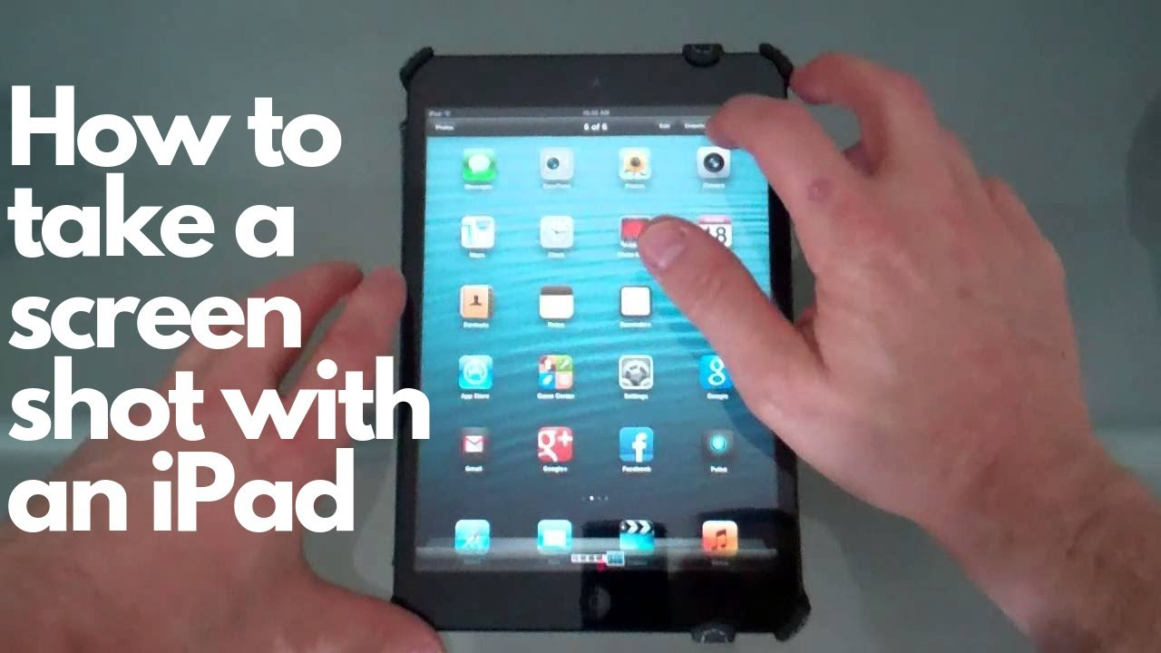 How to take pictures with ipad