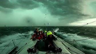 Bol d'or Mirabaud 2019 - Démâtage Morpho dans tempête