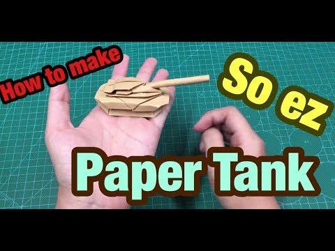 [MonMen House] Make a paper Tank