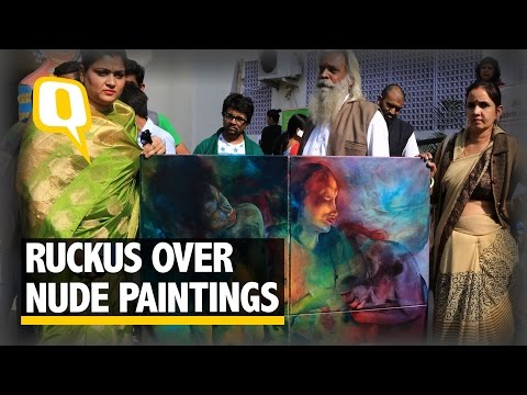 The Quint: Ruckus Over Nude Paintings at Jaipur Art Summit 2016