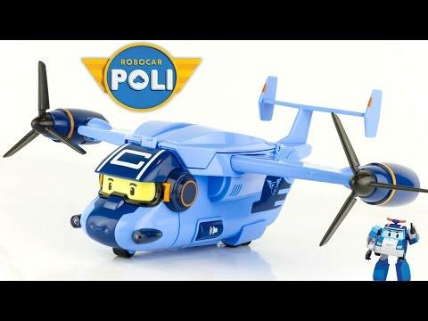 New Robocar Poli Airplane Cargo Transporter Toy Review Juguetes 로보카폴리 Робокар Полиen