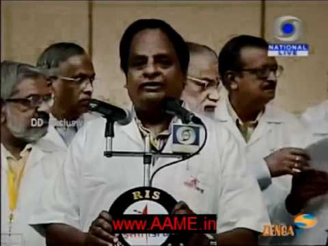 Indian Space Scientists address the country after successful launch of the RISAT-1 Satellite