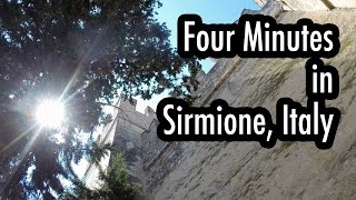 Four Minutes in Sirmione, Italy(Beautiful Scaliger Castle, lake in a smoldering volcano (Lake Garda), Roman ruins. Four Minutes in Sirmione, Italy Music:
