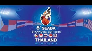 Philippines vs. Thailand  | May 28, 2016 , 2016 | 5th SEABA Stankovic Cup 2016 THAILAND (ENG)