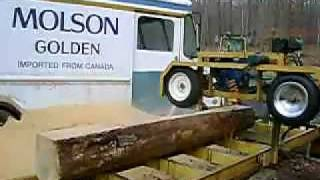 Homemade Bandsaw Mill Hands Free Cutting 2of 2