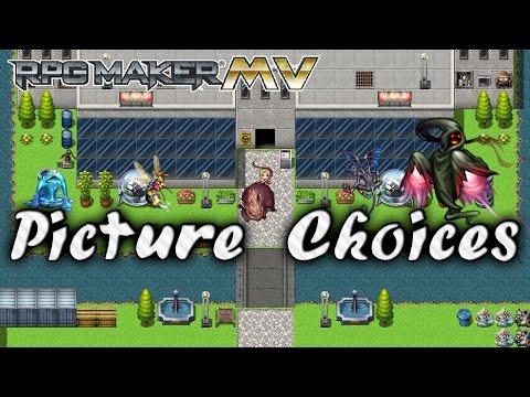Picture Choices Plugin - RPG Maker MV - Самые лучшие видео
