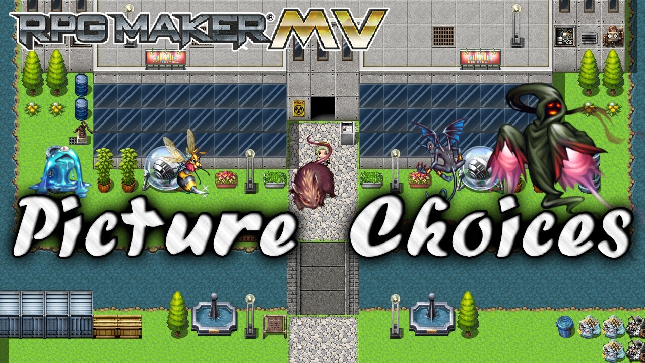 Picture Choices Plugin - RPG Maker MV - Самые лучшие видео