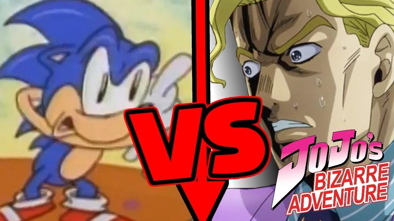 Sonic Vs Jojo Characters Youtube