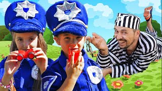 Anna and Mania Police Song Nursery Rhymes & Kids Songs