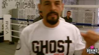 GUERRERO SHADOW BOX'S AND TALKS TITO ORTIZ AND DIAZ VS MCGREGOR 2