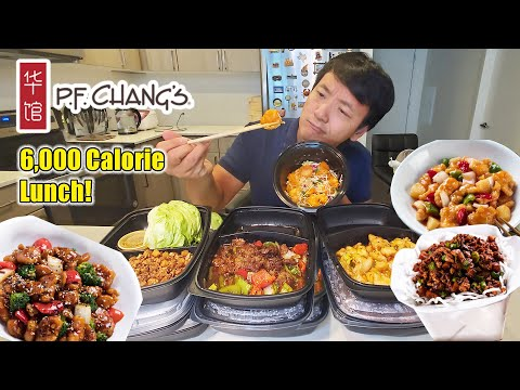 Trying PF Chang's TOP DISHES! 6,000 CALORIE LUNCH & SCARY Story Time