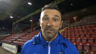 Steve Torpey's post-match reaction