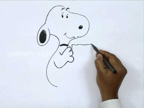 How To Draw A Valentine Snoopy