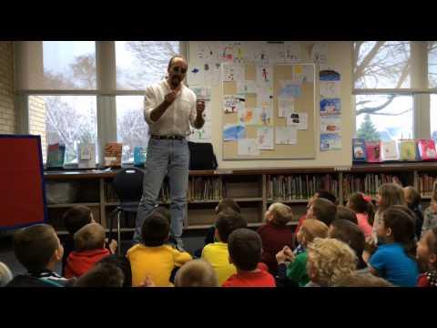 Michigan Chillers' author visits Mackensen Elementary School