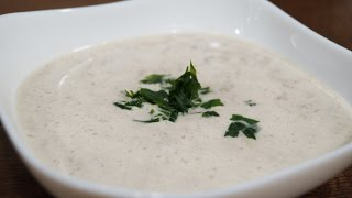 Грибной суп-пюре из шампиньонов со сливками