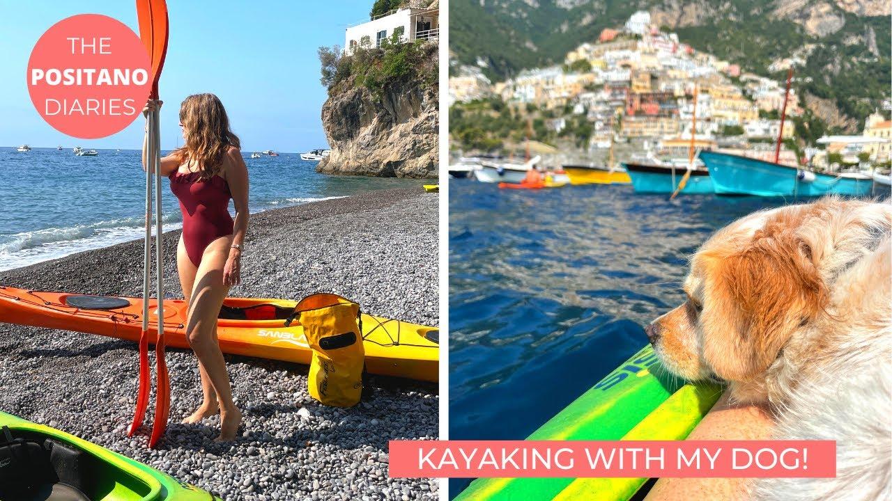 KAYAKING WITH OUR DOG IN POSITANO! | The Positano Diaries EP 136