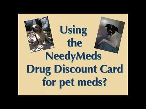 Using the NeedyMeds Drug Discount Card to Save on Pet Medications