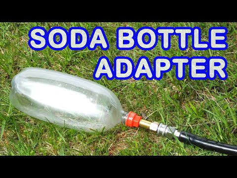 3D Printed Soda Bottle Thread Adapters for Air Tank Making and Water
