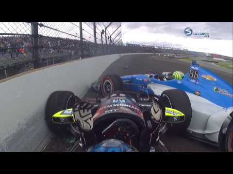 Verizon IndyCar Series 2016. Grand Prix of Indianapolis. Sébastien Bourdais & Tony Kanaan Crash