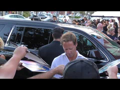 Nat Faxon signs for  outside the screening of Netflix's Disenchantment at Vista Theatre in Los A