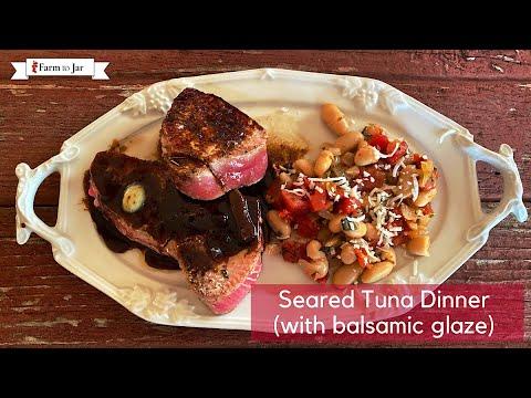 Spicy Seared Tuna Dinner - Pesco Mediterranean Diet