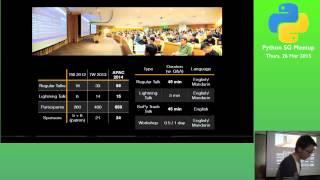 Upcoming APAC conference in Taiwan - PythonSG Meetup