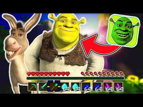 Minecraft SHREK Bed Wars! - SHREK AND DONKEY ARE AWESOME!! (Minecraft Roleplay Mini-Game)