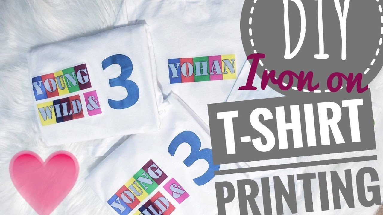 Diy iron on t shirt printing youtube for Diy tee shirt printing
