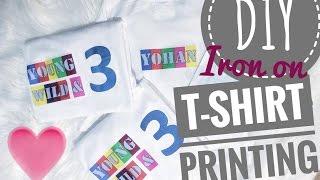 DIY Iron-on T-shirt Printing