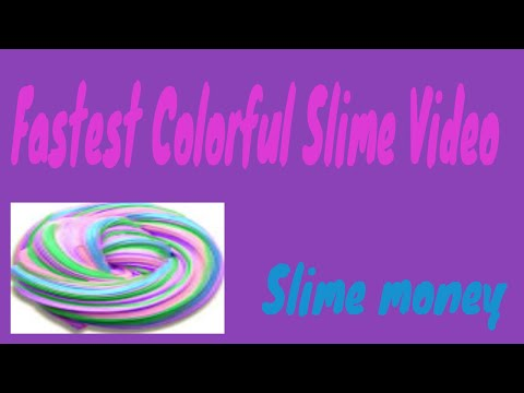 FASTEST COLORFUL MAKING SLIME VIDEO !
