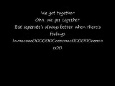 Hey Ya by Outkast with lyrics on screen!
